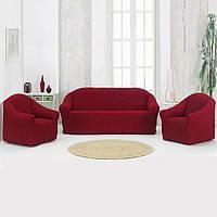 Накидка для диван Бордовая 170Х230 149730
