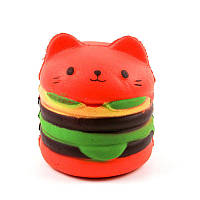 Сквиши игрушка антистресс Squishy Гамбургер Кот 131613