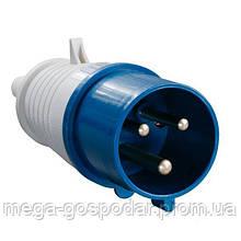 Вилка силовая переносная 16А/3 2Р+E IP44,вилка кабельная 3 контакта 250В