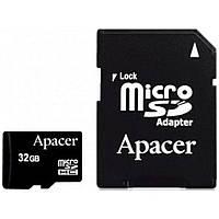 Карта памяти Apacer 32Gb microSDHC Class4 w/ 1 Adapter RP (AP32GMCSH4-R)
