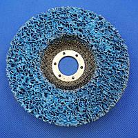 Зачистной круг для УШМ  д. 125 мм, нетканый, на углепластиковой основе, синий