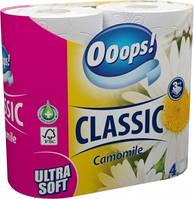 Ooops! туалетний папір 3-хслойная Classic Kamilla 4шт (140 відривів)
