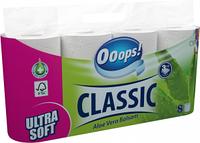 Туалетний папір 3-хслойная Ooops! Classic Aloe Vera 8шт 140 відривів
