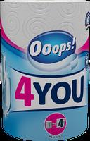 Полотенца бумажные 2-хслойные Ooops! 4You 1шт 200 отрывов