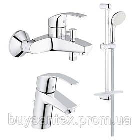 Grohe Eurosmart 123238S набор смесителей для ванной S-Size (33265002+33300002+27926001)