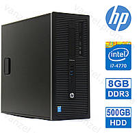 HP 800 G1 - Intel Core i7-4770/ 8GB DDR3/ 500GB HDD Системный блок, Компьютер, ПК