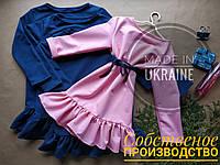ОПТ. Сукня для дівчинки. Сукня  з принтом та рюшою. Дитячий одяг.