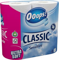 Туалетний папір 3-хслойная Ooops! Classic Sensitive 4шт 140 відривів