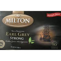Чай Milton Earl Grey strong 80 пакетів