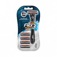 Bic Flex 3 Hybrid станки для бритья /3 лезвия/ 1шт+ 4 сменные кассеты