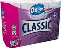 Ooops! туалетний папір 3-хслойная Classic Lavender 24шт (125 відривів)