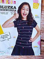 Стильная футболка для девочки -фирменная польша Польша