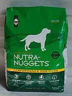 Сухой корм для собак Nutra Nuggets (Нутра Нагетс) Adult Performance (зеленая) 15 кг