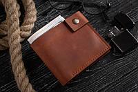 Мужской кожаный кошелек mod.Crafter коньячный, фото 1