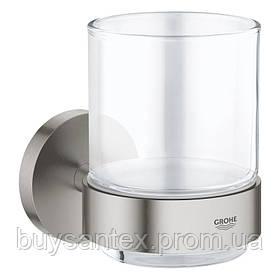 Grohe Essentials 40447001 стакан с держателем настенный