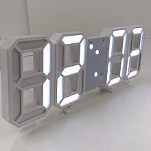 Настільний електронний годинник з бувальщин підсвічуванням VST-1089/6803 WHITE (60 шт/ящ)