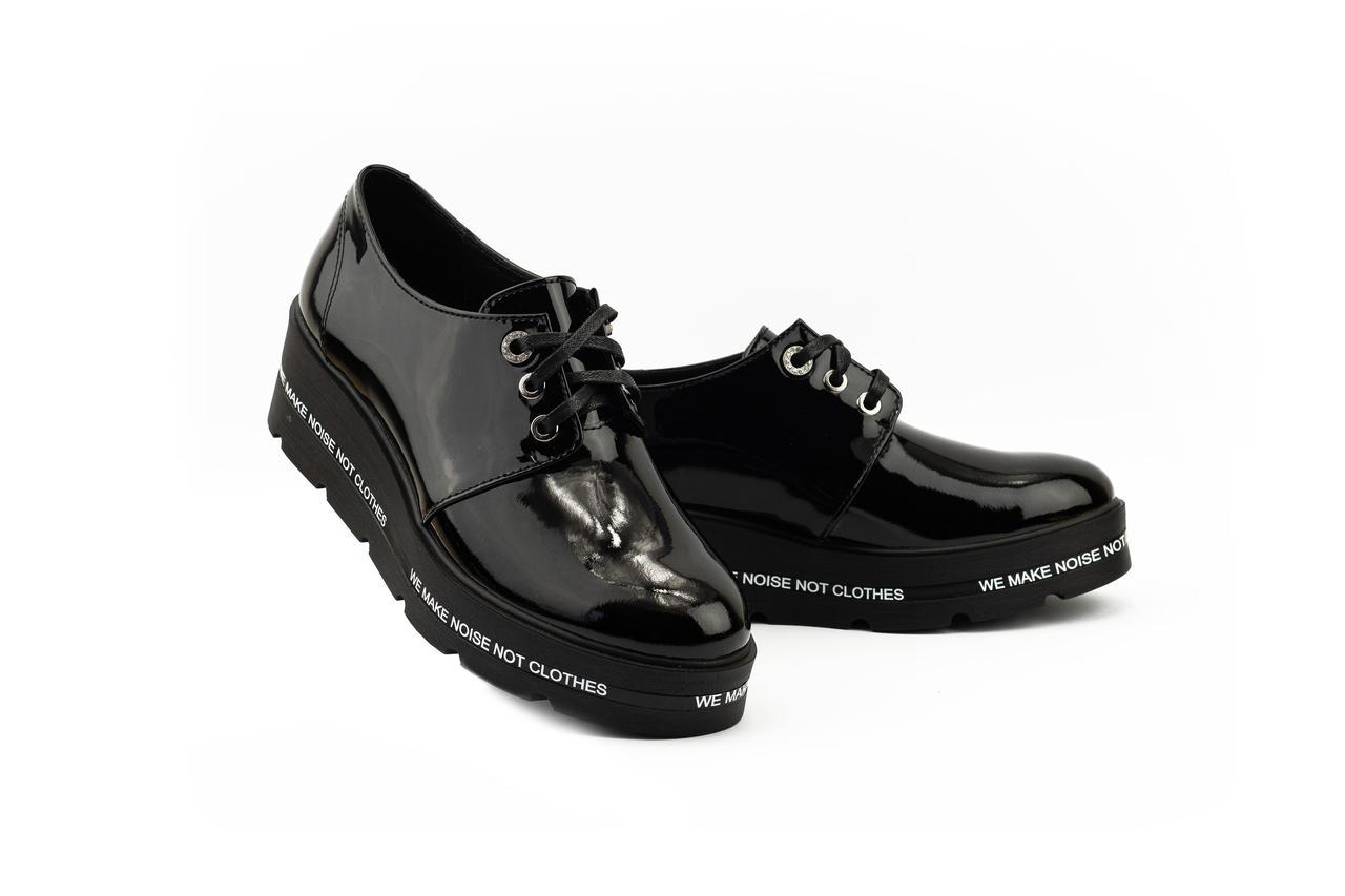 Женские туфли кожаные весна/осень черные DARINI 203