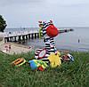 Музыкальная игрушка-подвеска Зебра Зоя Balibazoo (Высота 26 см), фото 8