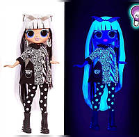 L.O.L. Surprise! O.M.G. Lights Groovy Babe Fashion Doll with 15 Surprises неоновые огни Груви Бейб, фото 1
