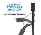Кабель MakeFuture USB-USB Type-C, 3A, 1м Denim Grey (MCB-CD3GR), фото 4
