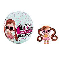 L.O.L. Surprise Hairvibes Dolls with 15 Surprises & Mix & Match Hairpieces, натуральные волосы меняет прически