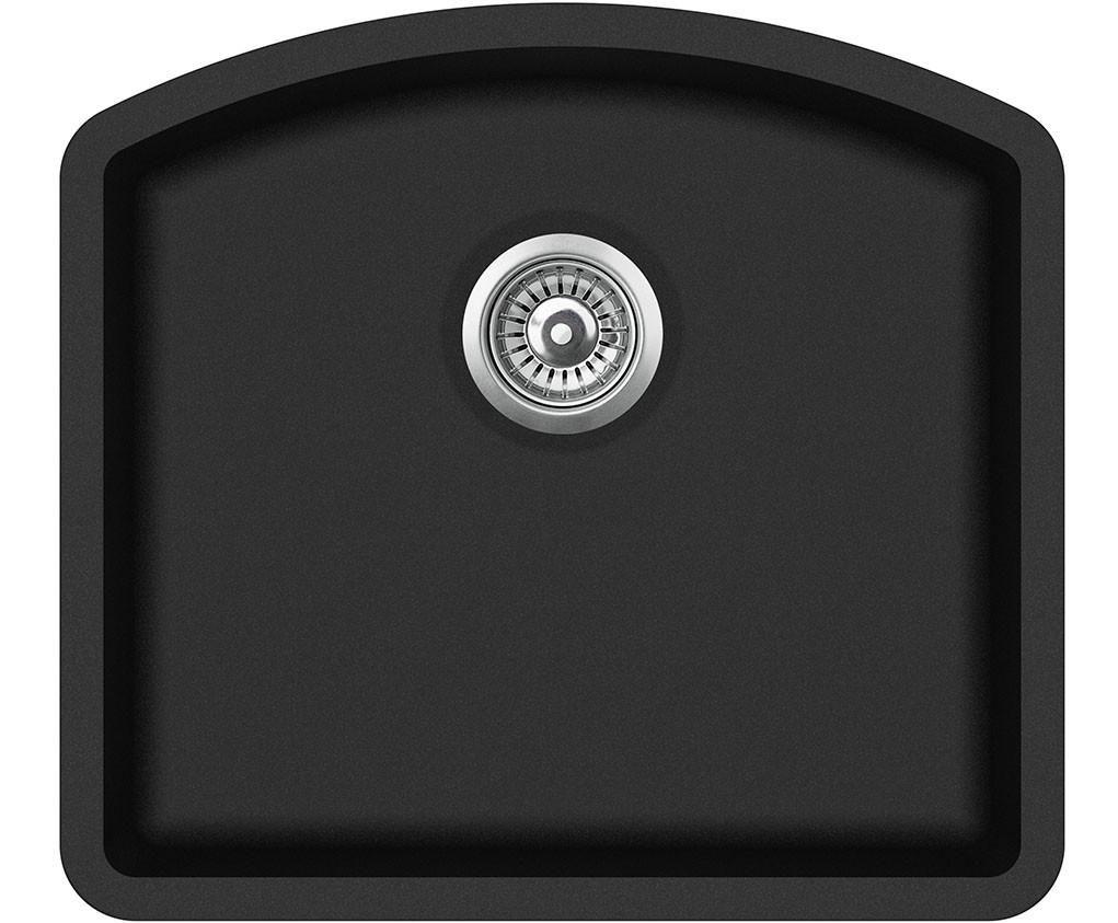 Кухонная гранитная мойка Aquasanita SQA103 Arca 585*535
