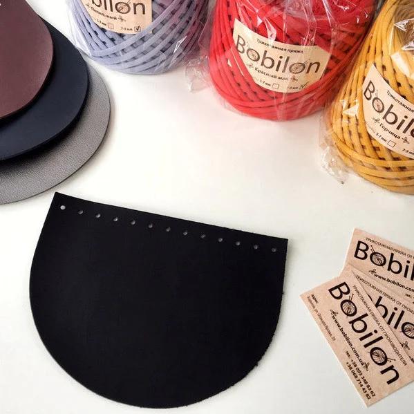 Комплект сумкової фурнітури: Кришка-клапан і дно овальне. Колір Чорний