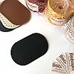 Комплект сумкової фурнітури: Кришка-клапан і дно овальне. Колір Чорний, фото 2