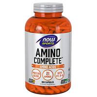 Amino Complete Аминокислоты 360 капс белковое питание  Now Foods