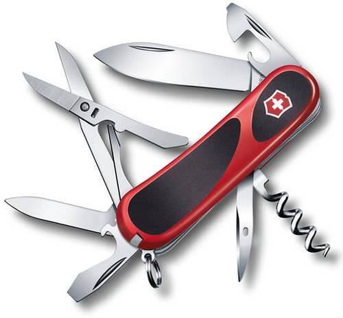 Швейцарский удобный складной нож Victorinox EvoGrip 14, 23903.C красный