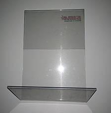 Ценник пластиковый горизонтальный 220*150 мм. Ценникодержатель настольный.  L-образный ценникодержатель б/у, фото 3
