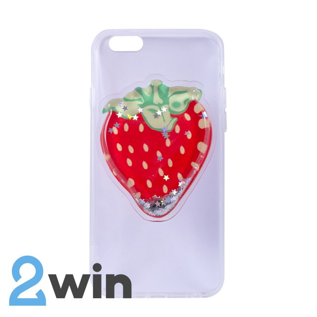 Чехол Fruit 3D iPhone 6/6S Клубника