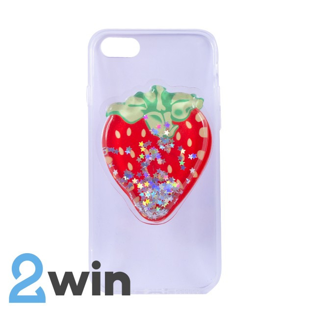 Чехол Fruit 3D iPhone 7/8 Клубника