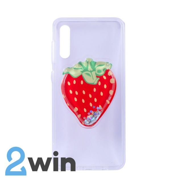 Чехол Fruit 3D Samsung A50 Клубника