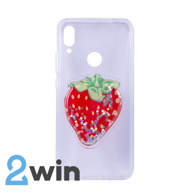 Чохол Fruit 3D Xiaomi Redmi Note 7 Полуниця