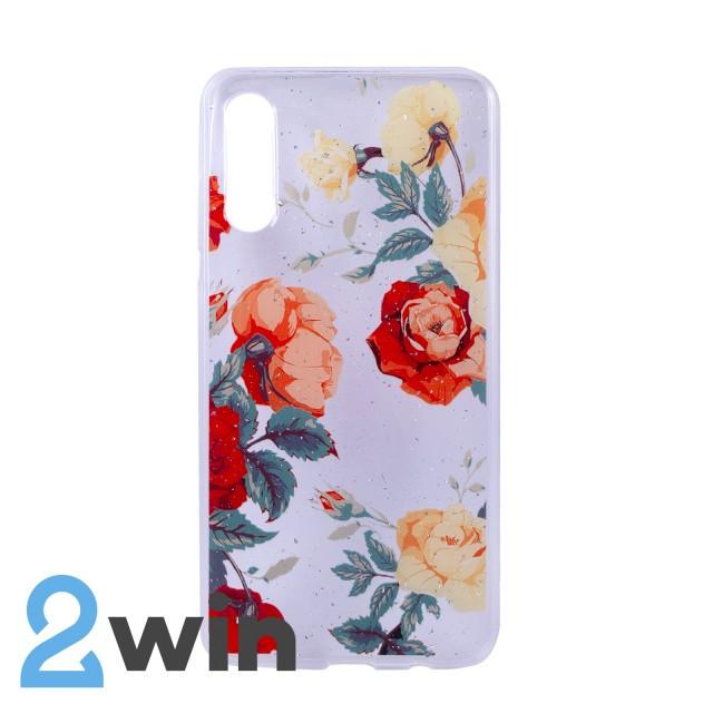 Чехол Fashion Цветы Samsung A50 Мод. 01