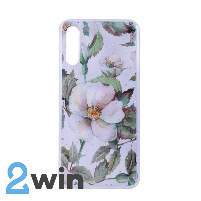 Чехол Fashion Цветы Samsung A50 Мод. 02