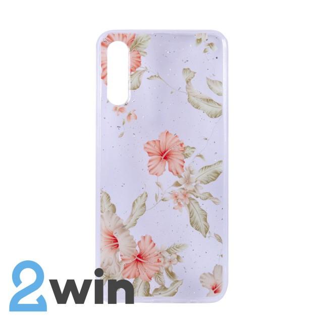 Чехол Fashion Цветы Samsung A50 Мод. 03