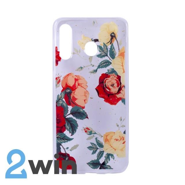 Чехол Fashion Цветы Samsung M30 Мод. 01