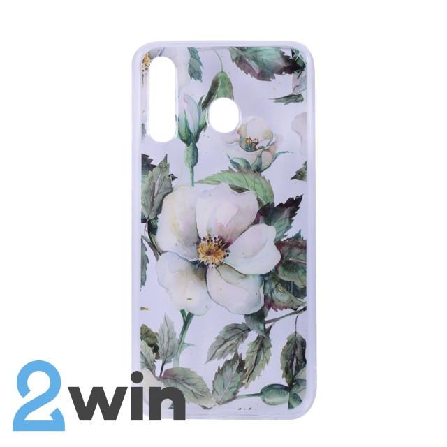Чехол Fashion Цветы Samsung M30 Мод. 02
