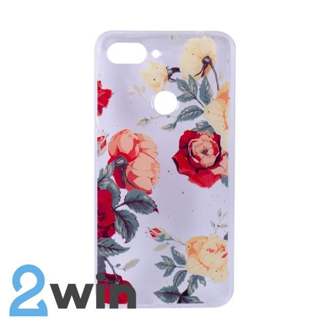 Чехол Fashion Цветы Xiaomi Mi 8 Lite Мод. 01