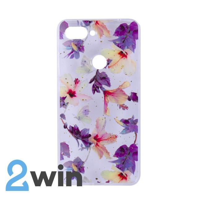 Чехол Fashion Цветы Xiaomi Mi 8 Lite Мод. 04