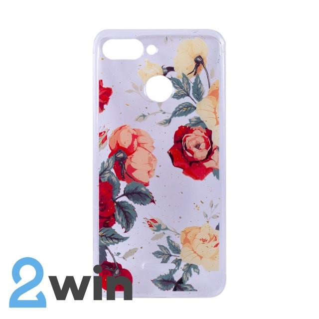 Чехол Fashion Цветы Xiaomi Redmi 6 Мод. 01