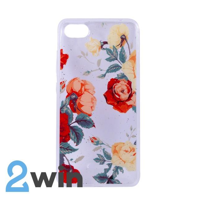 Чехол Fashion Цветы Xiaomi Redmi 6A Мод. 01