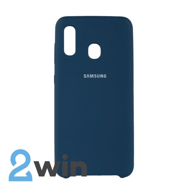 Чехол Jelly Silicone Case Samsung A20 Космический Синий