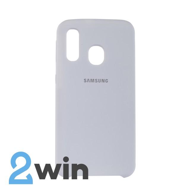 Чехол Jelly Silicone Case Samsung A40 Белый