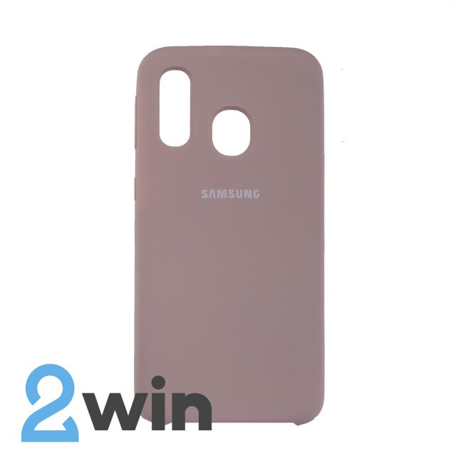 Чехол Jelly Silicone Case Samsung A40 Бежевый