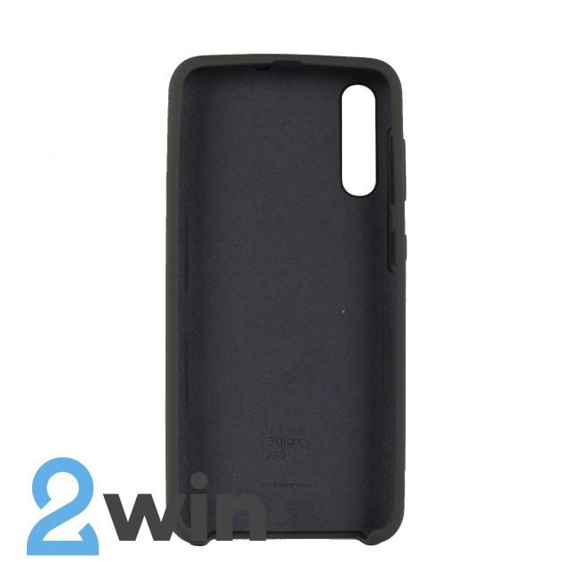 Чехол Jelly Silicone Case Samsung A50 Темно-оливковый