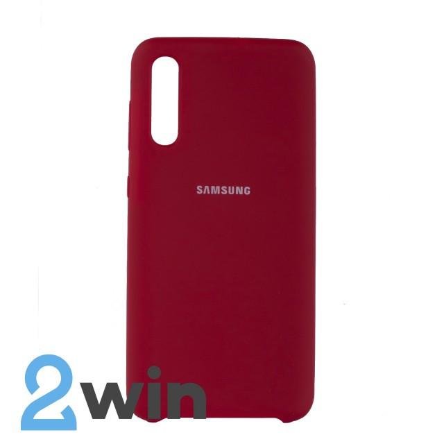 Чехол Jelly Silicone Case Samsung A50 Вишневый