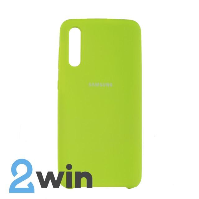 Чехол Jelly Silicone Case Samsung A50 Лаймовый
